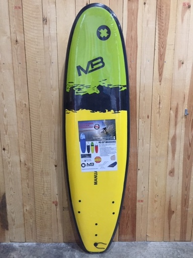 "PRO SOFT W/STRINGER 6'6""YELLOW"