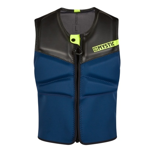 BLOCK IMPACT VEST FRONT ZIP NAVY/LIME