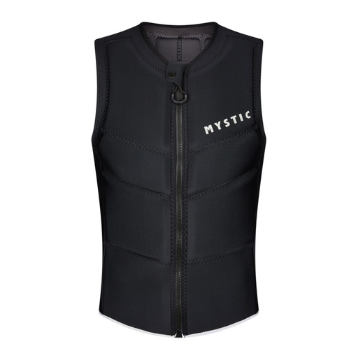 STAR IMPACT VEST FRONT ZIP BLACK